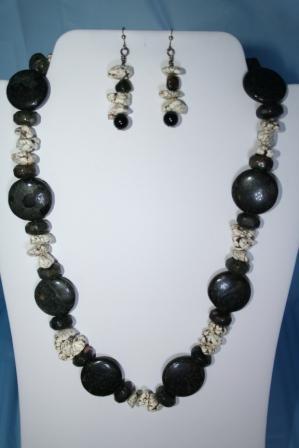 Set-Buffalo Turquoise, Onyx, black jasper